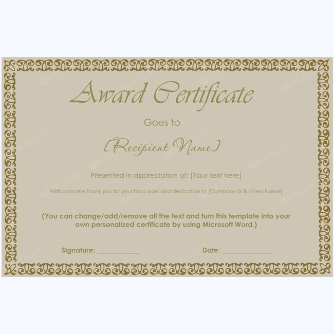 99 best award certificate templates images on pinterest award certificate 33 cheaphphosting Images