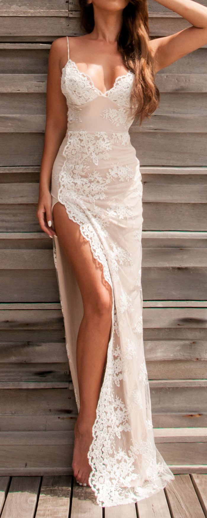 Lace gown...for tropical wedding