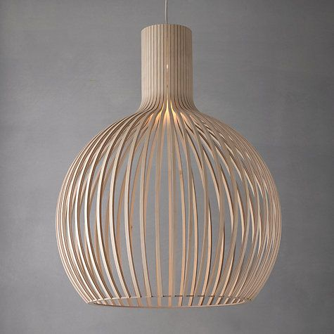 Buy Secto Octo Ceiling Light Online at johnlewis.com to go above dining table with swag hook to raise up if necessary.