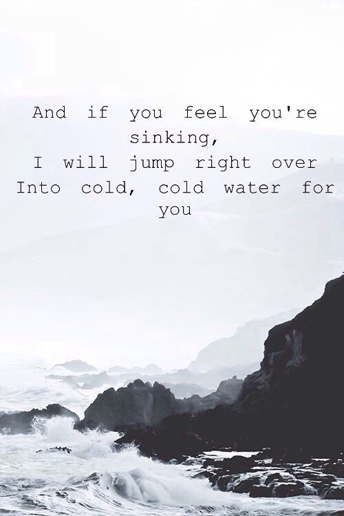 Cold water// Justin Bieber