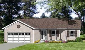 Ranch House Plan 94444 Elevation