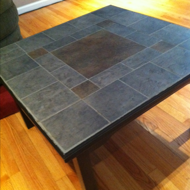 Kitchen Table Top Tiles: DIY Coffee Table, Made From A Cheap Yard Sale Table