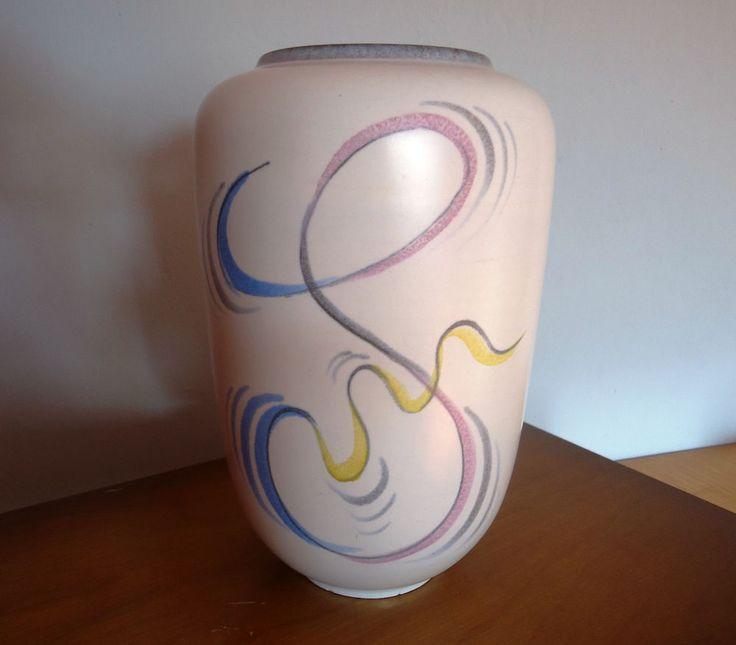 Vase Wächtersbach 50er Jahre Dekor Feo Entwurf E. Henning 5os Pottery Vintage !  | eBay