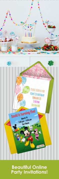 Paper invites are too formal, and emails are too casual. Get it just right with online invitations from Punchbowl. We've got everything you need for your birthday party. http://www.punchbowl.com/online-invitations/category/47/?utm_source=Pinterest&utm_medium=32.3P