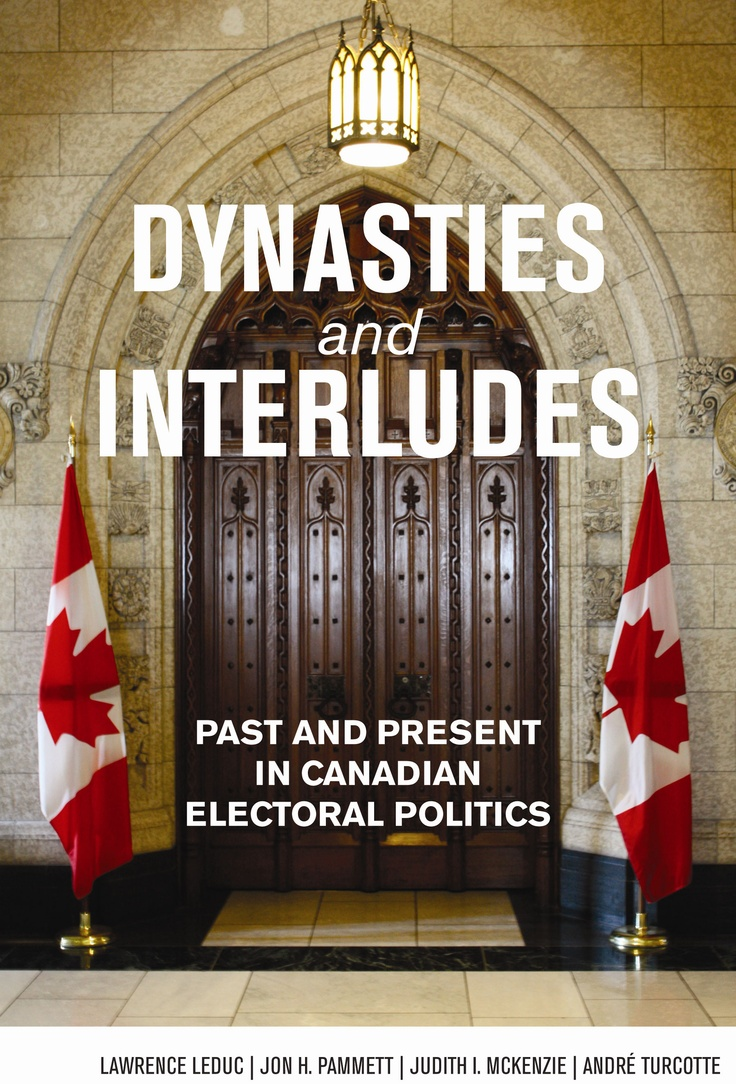 """""""Dynasties and Interludes"""" provides a comprehensive and unique overview of elections and voting in Canada from Confederation to the recent spate of minority governments. Its principal argument is that the Canadian political landscape has consisted of long periods of hegemony of a single party and/or leader (dynasties), punctuated by short, sharp disruptions brought about by the sudden rise of new parties, leaders, or social movements (interludes) #cdnpoli"""