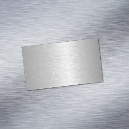 Silver Metallic Look Magnetic Business Card - construction business diy customize personalize