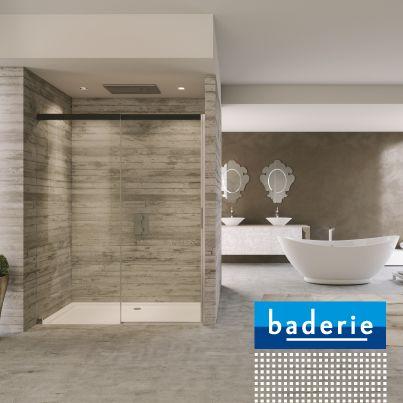 Met de profielloze #Sealskin douche-wanden creëert u een ruimtelijk effect in uw #badkamer.
