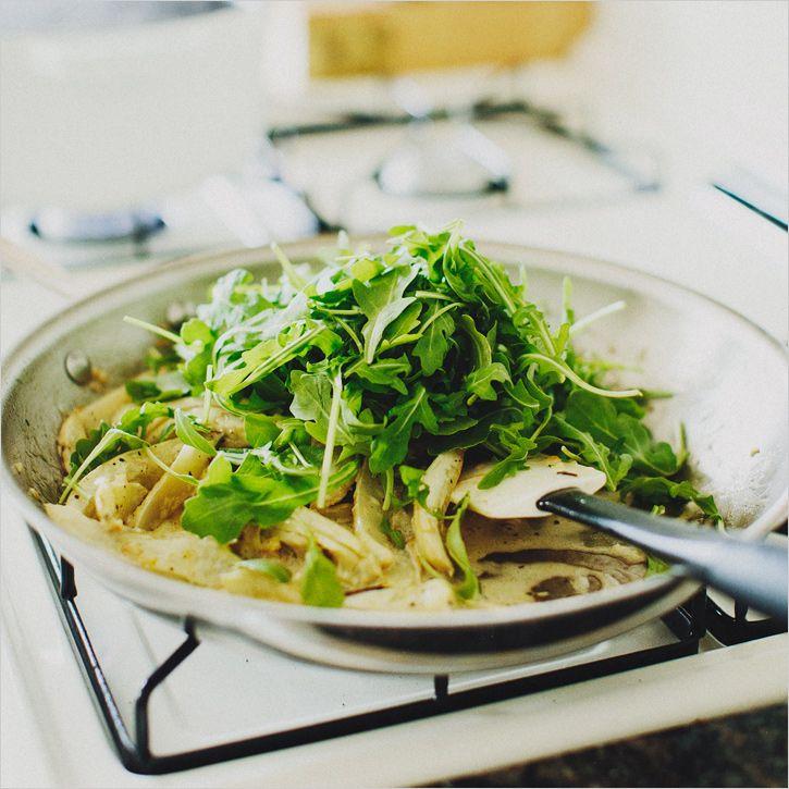 pasta w/ fennel, arugula + lemon • sprouted kitchen