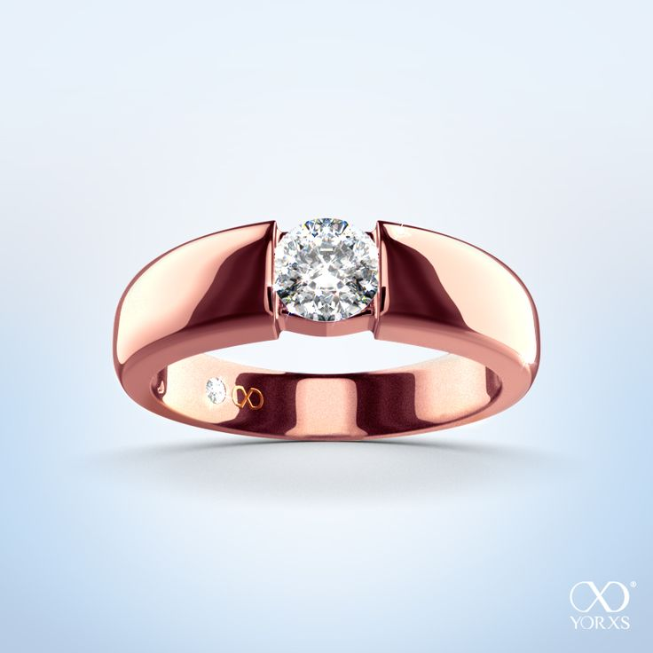 Beautifully set in a rose gold ring is the brilliant diamond... #rosegold #rot gold #spannring #alesia #diamantring #brillantring #ringkonfigurator #selbstgestalten #zertifiziert #gia #yorxs