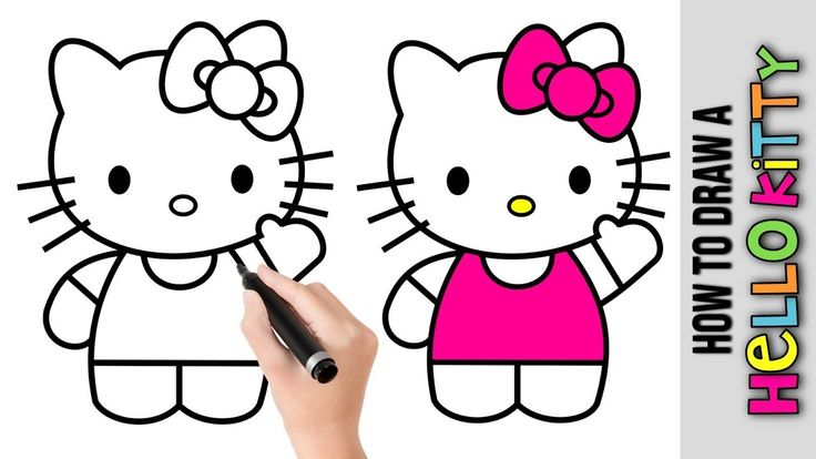 how to draw a hello kitty a easy pictures to draw step by step a drawings