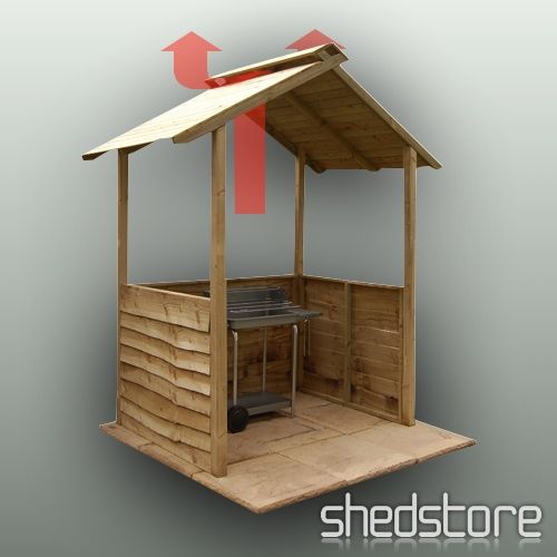 BBQ shelter, roof vent