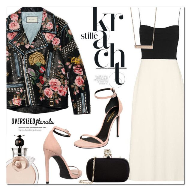 Oversized Florals by stellaasteria on Polyvore featuring polyvore, fashion, style, Narciso Rodriguez, Gucci, Yves Saint Laurent, Alexander McQueen, Valentino and clothing
