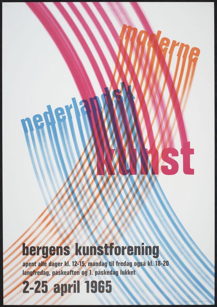 Jurriaan Schrofer Moderne Nederlandsk Kunst, Bergens Kunstforening, 2-25 april 1965