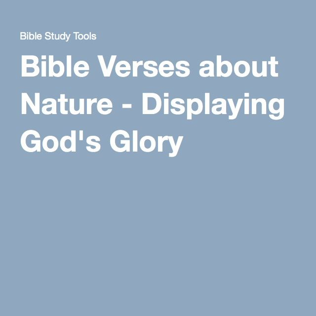 CC Cyce 1 -natural science -Bible Verses about Nature - Displaying God's Glory