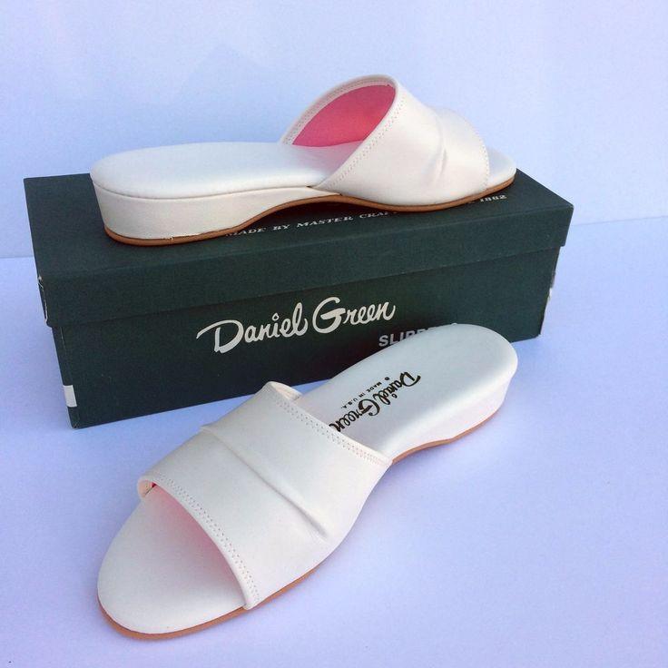 Vintage Daniel Green Dormie White Slippers Size 8.5 B85 Never Worn  #DanielGreen #Slippers