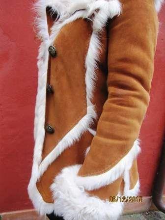 Giaccone donna montone shearling di scervino originale taglia 42 4
