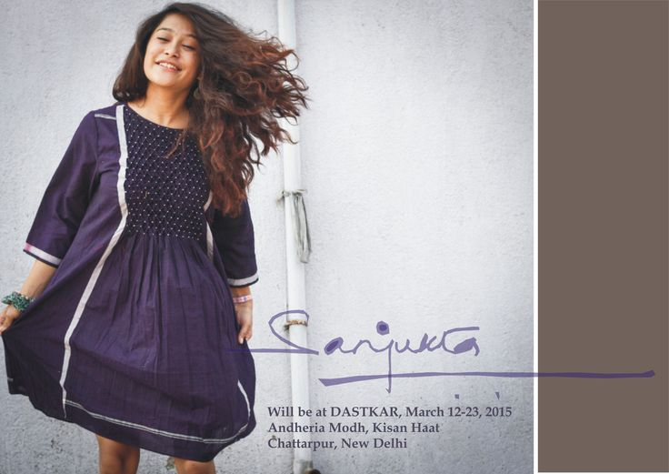 delhi mark your calendar! #handsmocked #smocking #tunic #lungi #dress #handwoven #handmade #blue #sanjukta