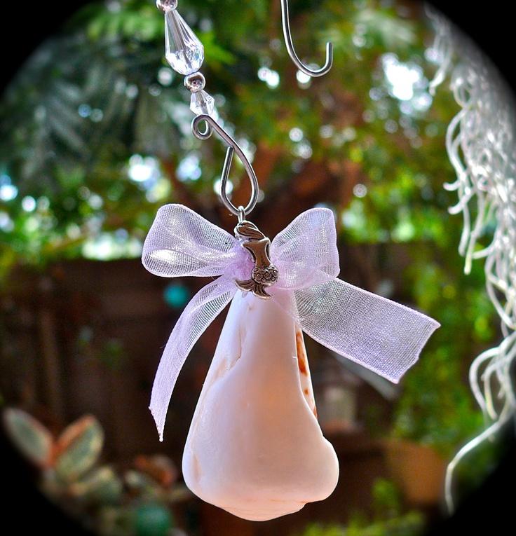 Seashell christmas ornament from hawaii hawaiian holiday for Christmas tree ornaments made from seashells