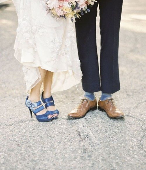 Zapatos de novia de colores. Stylemepretty.com: Picture, Wedding Ideas, Event, Blue Shoes, Blue Weddings, Blueberry Weddings, Bride, Blue Wedding Shoes