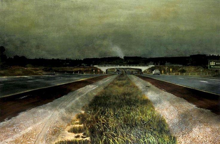 "Chambers's influence can be seen in the work of Toronto painter Sheila Ayearst in her work ""The 401 Towards London: Median,"" (1992, collection of the artist)."