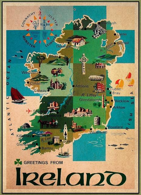 1980's-era postcard from Ireland