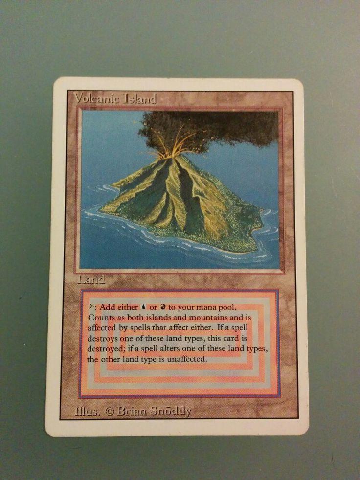 volcanic island. Carte magic rare très bon état. D'autres doubles terrains disponibles. #mtg #magic #carte #jeu