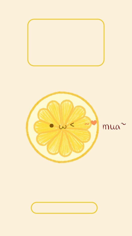 Iphone lemon lock screen wallpaper