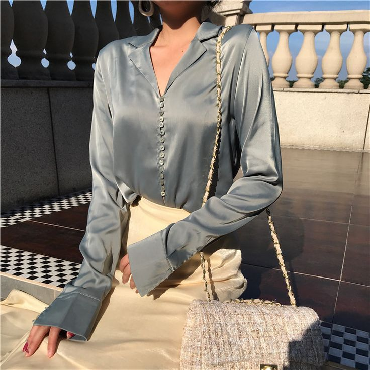 P765 Women Silk Satin Blouse Single Breasted V Neck Long Sleeve Shirts Ladies Office Work Elegant Female Top High Quality Blusa #Satin blouses http://www.ku-ki-shop.com/shop/satin-blouses/p765-women-silk-satin-blouse-single-breasted-v-neck-long-sleeve-shirts-ladies-office-work-elegant-female-top-high-quality-blusa/
