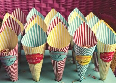 vintage seaside/cinema themed favours