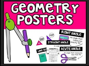 Geometry+PostersColor+++Black+&+White*Download+the+preview+for+a+better+look!+This+product+includes:+Posters+for+the+following+geometric+definitions:++Right+Angle+Obtuse+Angle+Acute+Angle+Straight+Angle+Protractor+Parallel+Lines+Perpendicular+Lines+Line+Segment+RayStudent+Notebook+Reference+Page+