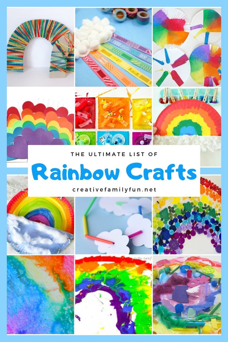 d2f17c53 Celebrate rainbows with this HUGE list of rainbow crafts for kids. They're  so