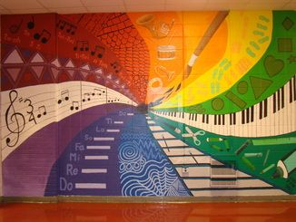 Hallway Mural 2011-great idea for our hallway by the music room :)