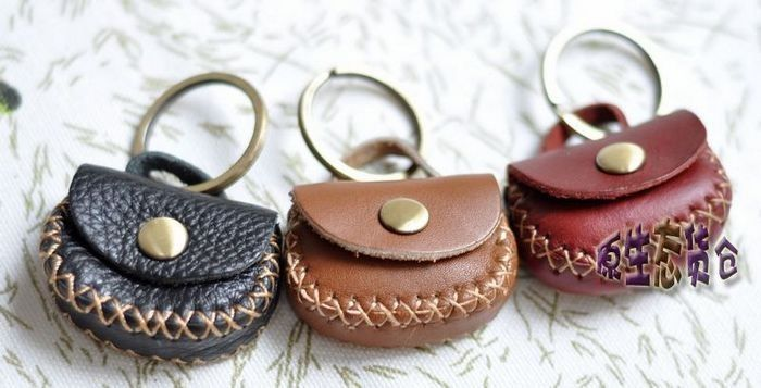 coin purse Small coin purse coin case genuine leather dual-use keychain coin purse key hangings $52.30