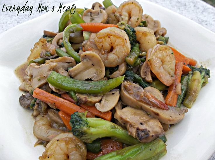 ~Shrimp Stir Fry~ A simple seafood meal that comes together quickly. Packed full of veggies and flavor, this is great any night of the week.