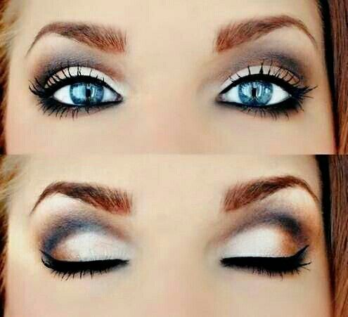 Wedding Makeup Ideas For Blue Eyes : make-up for blue eyes Wedding Ideas Pinterest