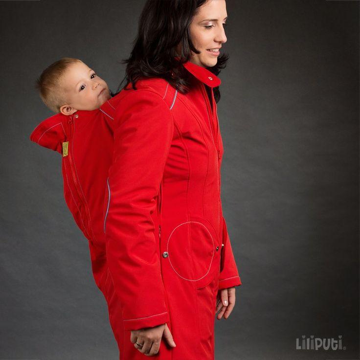 Liliputi® Babywearing Mama Coat Red-turquise
