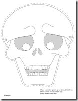 Disfraz de esqueleto con plantillas de huesos   Trato o truco