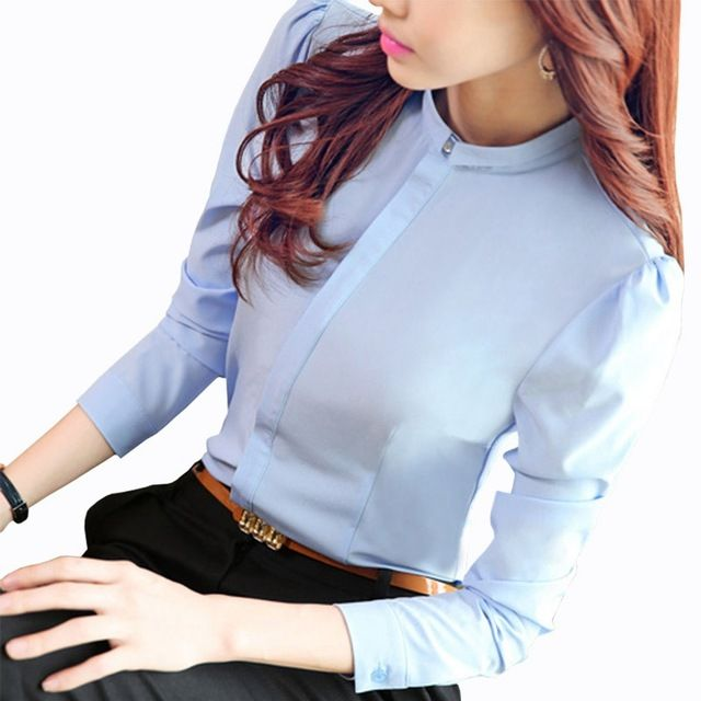 Camisa de la blusa de Las Mujeres 2016 Otoño Nueva Corea Moda de Manga Larga damas camisas de oficina ropa de trabajo más el tamaño mujeres clothing para Tops