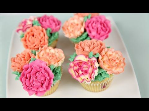 Carnation Flower Buttercream Cupcakes - CAKE STYLE - YouTube This is so far the easiest tutorial for buttercream carnations I've found.