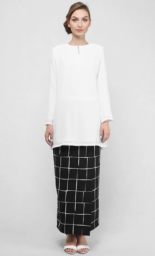 Arabella Kurung Modern in White
