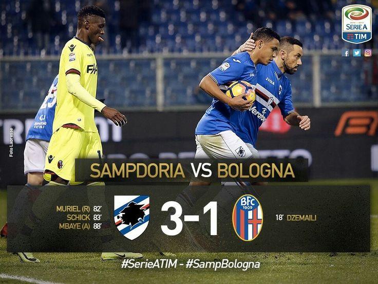 Konečný stav utkání. Sampdoria Janov - Boloňa: 3:1!