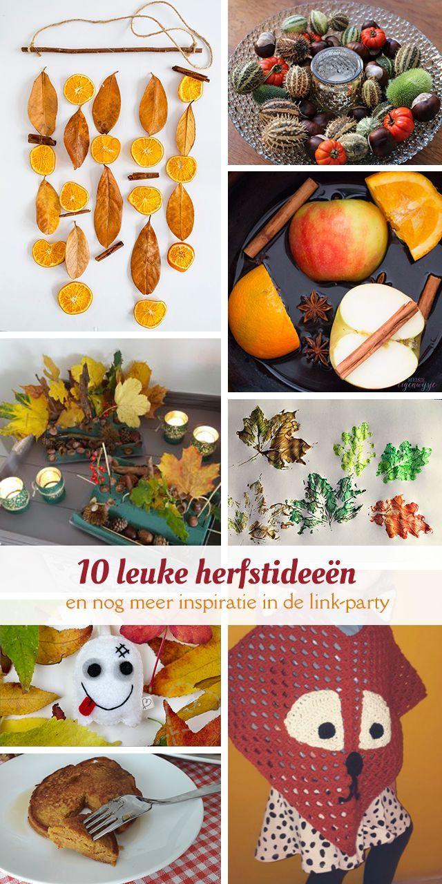 Op zoek naar inspiratie voor de herfst? In deze blog vind je allerlei leuke ideeën en een link-up.