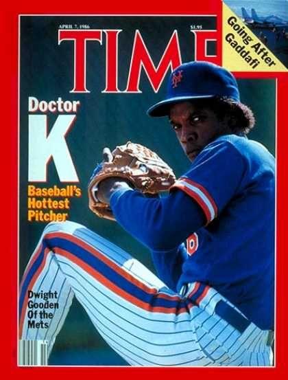Time - Dwight Gooden - Apr. 7, 1986 - Baseball - New York - Sports