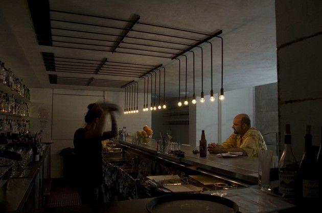 Workshop kitchen + bar lighting by .PSLAB