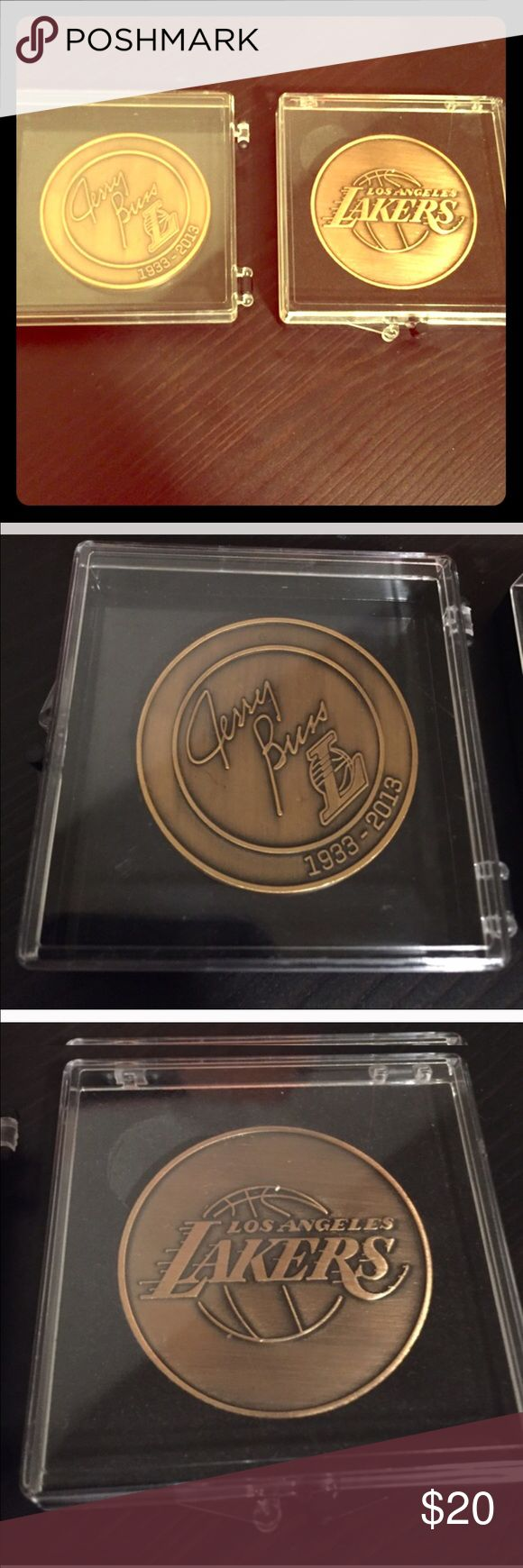 Lakers - Jerry Buss commemorative coin!!! Jerry buss coin was avail to all fans in 2016, as a collectors item commemorating the late Jerry Buss! Great collectors edition for any true laker fan!!! I had extra, so I'm selling this coin :) Other