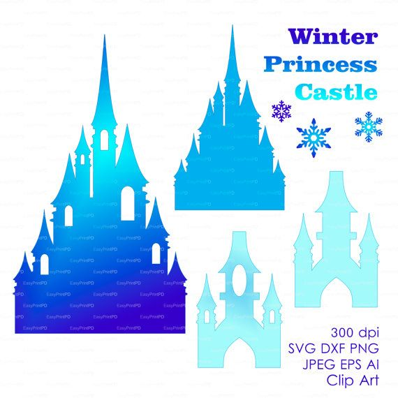 Princess winter snow frozen castle