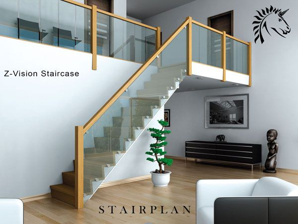 Best Oak And Glass Staircase The Z Vision Staircase Glass 400 x 300