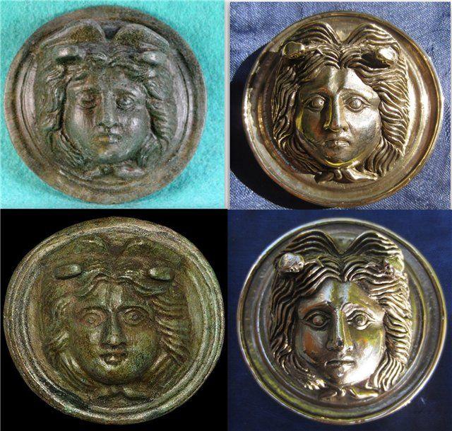 Roman Bronze Roundel Gorgon Medusa [Image:
