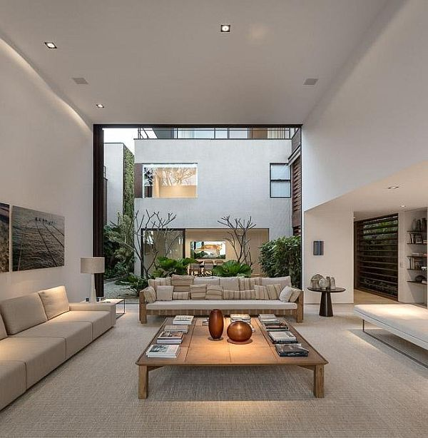 Arthur Rutenberg Homes Custom Home Design Living Area: Architectural Beauty Blends With The Nature In Brazil
