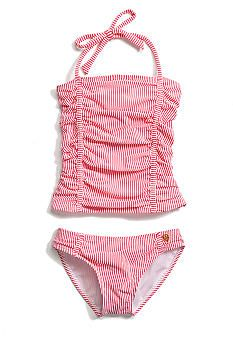 Jessica Simpson 2-Piece Stripe Tankini Girls 7-16